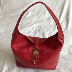 Dooney & Bourke Belvedere Logo Lock Bag Red NWT